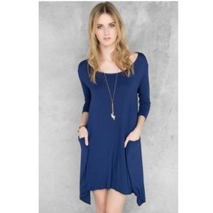 Francesca's Miami Flemming Solid Shift Dress